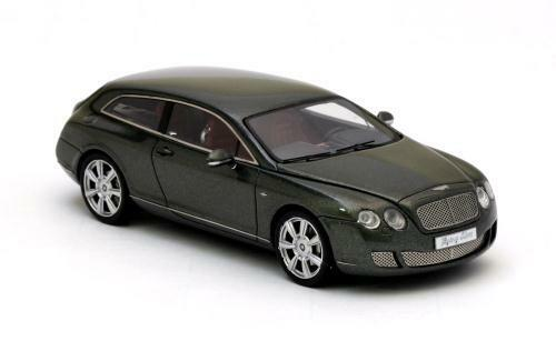 Große modelcar bentley continental flying star - tournee 2010 - darkGrün - 1   43