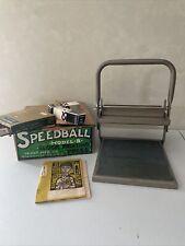 Speedball 4136 Block Printing Press Adjustable Height Model B Steel Press Ink