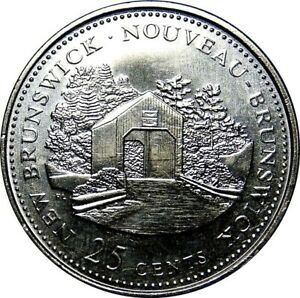 1992-Canada-125th-New-Brunswick-25-Cents-Gem-BU-UNC-Quarter