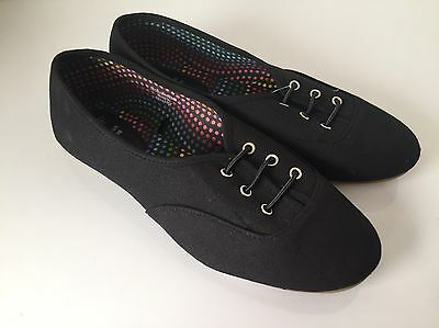 Zapatos planos señoras Negro Talla 7 Nuevo con etiquetas Envío Gratis