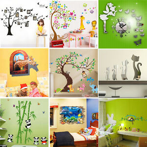 Family-Kid-Room-DIY-Removable-Wall-Stickers-Decal-Art-Vinyl-Mural-Home-Decor-Lot