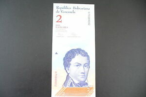 Charitable Billet Etranger Neuf/ Unc : 2 Bolivares Venezuela 2012 ! A Saisir !!
