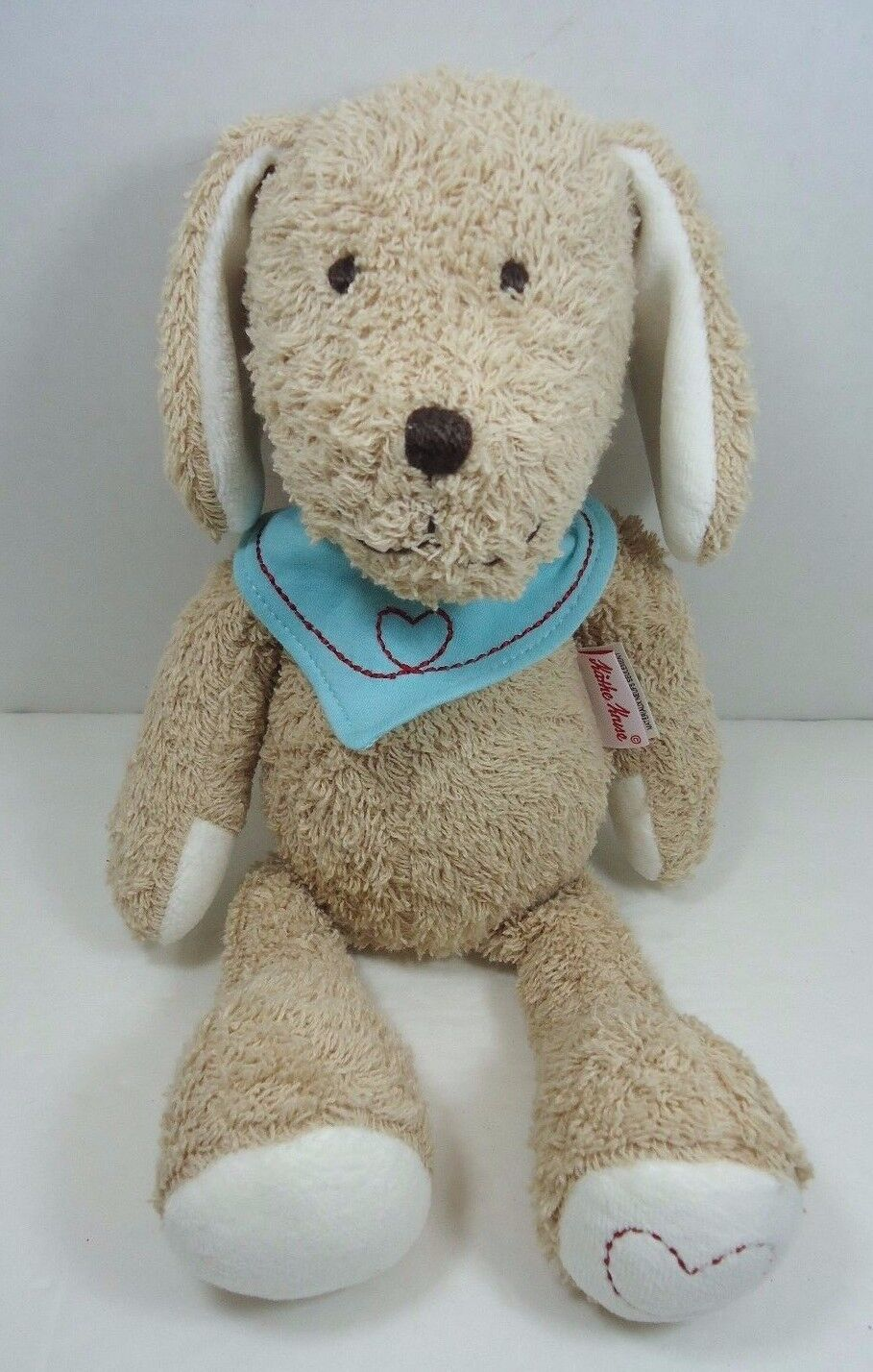 Sammy Dog Plush bluee Bandanna Heart On Foot Puppy Kathy Kathe Kruse Plush 13
