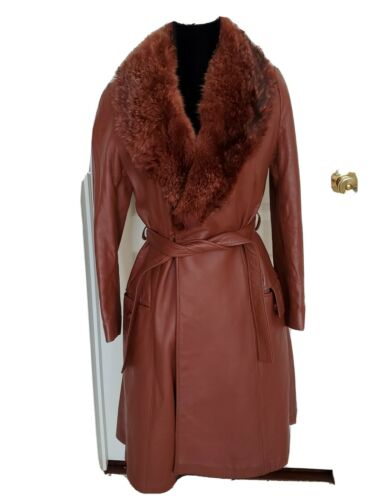 1970s Leather And Fur Trenchcoat