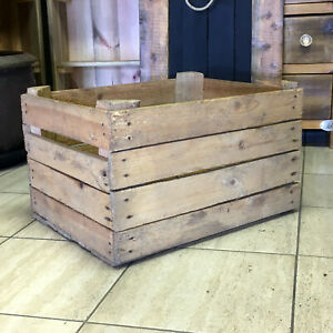 Details About 1 Vintage Apple Crates Rustic Wooden Crates Shabby Chic Kent Seller Collection
