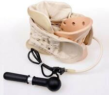 Cervical Vertebra Air Traction Neck Brace Pain Release Therapy Device Health Hot
