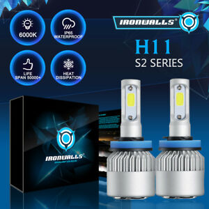 IRONWALLS-H11-225000LM-LED-Headlight-Kits-Bulbs-H9-H8-6000K-VS-HID-35W-55W-Fog