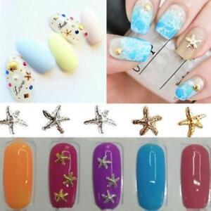10100pcs Cute 3d Diy Manicure Decals Summer Beach Starfish Nail Art