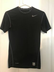 ad28910f Men's NIKE PRO Compression Nike-Fit Short Sleeve Black Shirt (Size ...