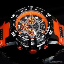 Invicta Speedway Viper II 50mm Orange Black Multifuctional Chronograph Watch New