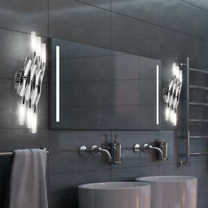 2er Set Design Wand Leuchten Badezimmer Spiegel Beleuchtung Chrom ...
