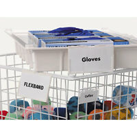 Label Holders Small With Cards Use On Wire Baskets 25 Pk