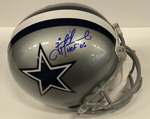 reputable site 0b3ba e2bb6 Details about Troy Aikman Autographed Dallas Cowboys Full Size Replica  Helmet Beckett COA HOF