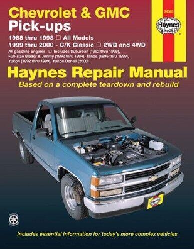 Repair Manual fits 1988-2000 GMC C1500,C2500,C3500,K1500,K2500,K3500 C1500,C2500