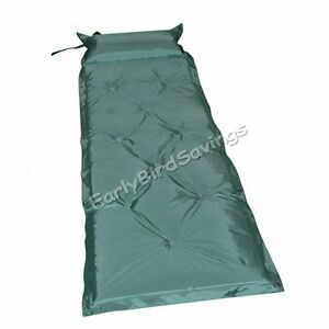 Green-Automatic-Inflatable-Sleeping-Pad-Mat-with-Pillow-For-Outdoor-Camping