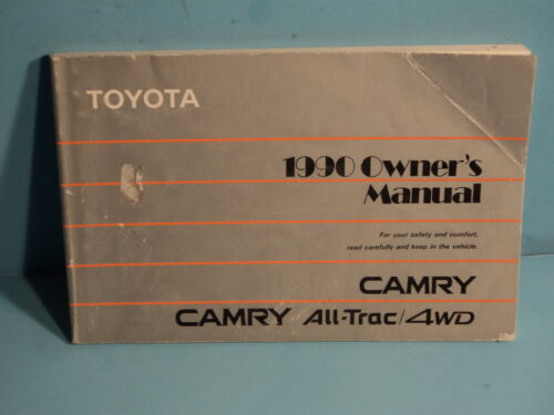 90 1990 Toyota Camry All Trac/4WD owners manual
