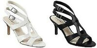 East 5th® Strappy Heeled Sandals Heels Shoes (black Or White)