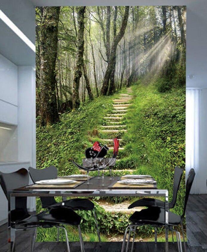 3D 3D 3D Pflanzentreppe 743 Tapete Wandgemälde Tapete Tapeten Bild Familie DE Summer 5e5a5b