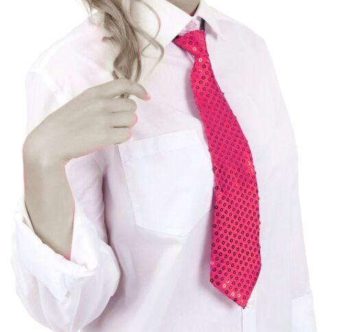 Cravate Paillettes Paillettes Cravate Fête Mardi Gras Paillettes Cravate Rose