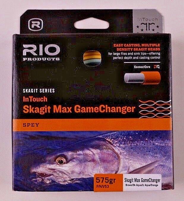 Rio Skagit Max giocoChanger 575gr FHIS3 Marronee Dk Aqua Lt Aqua arancia 619129