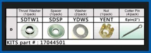 Solas Fixed Pressed Prop Hardware Kit Suzuki DF90-115HP Hub D-Series 17044501 MD