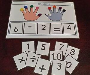 Premier Maths sommes Board + compteurs pour aider à travailler en réponse  </span>