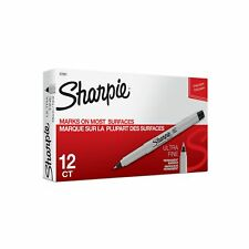 Sharpie 37001 Permanent Markers Ultra Fine Point Black 12 Count Ultra Fine