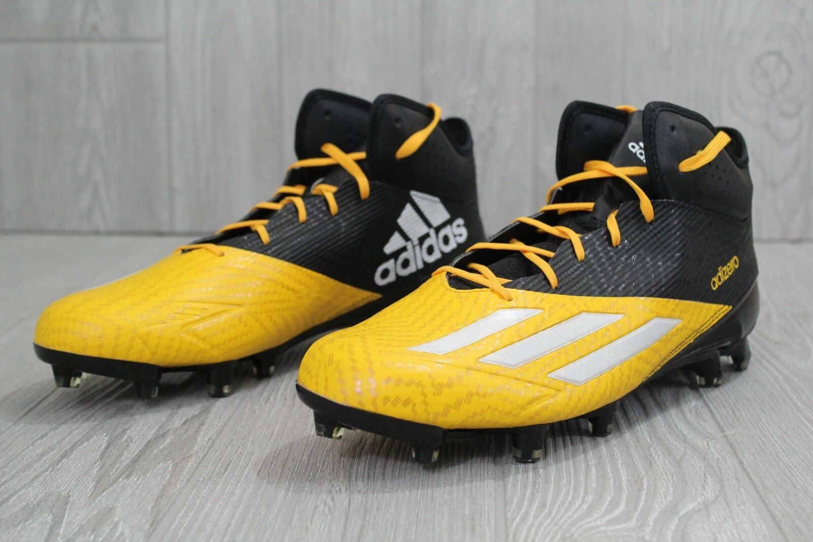 604235c1ea6 ... 29 Adidas Adizero Adizero Adizero 5 Star 5.0 Mens Football Lacrosse  Cleats Q16077 Yellow US 11.5 ...