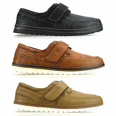 Mens Casual Boat Deck Mocassin Designer Touch Fasten Loafers Driving Shoes Size