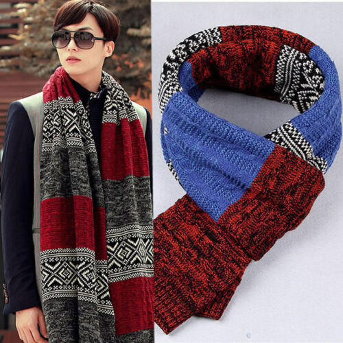 Men/'s Casual Shawl Wrap Fathers day Scarf Assorted Color Scarves Winter Warm