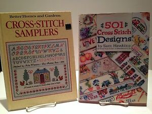 Cross-Stitch-Designs-amp-BH-amp-G-Sampler-Lot-034-501-Cross-Stitch-Designs-034