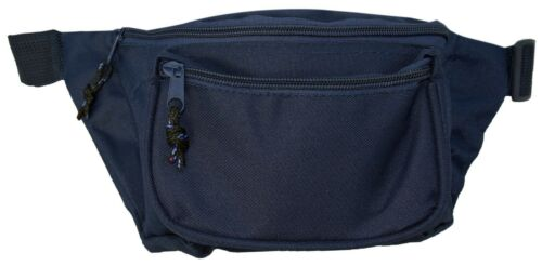 Fanny Pack Runny Belt Waist Money Pouch Three Zipper Pocket  Travel Pouch