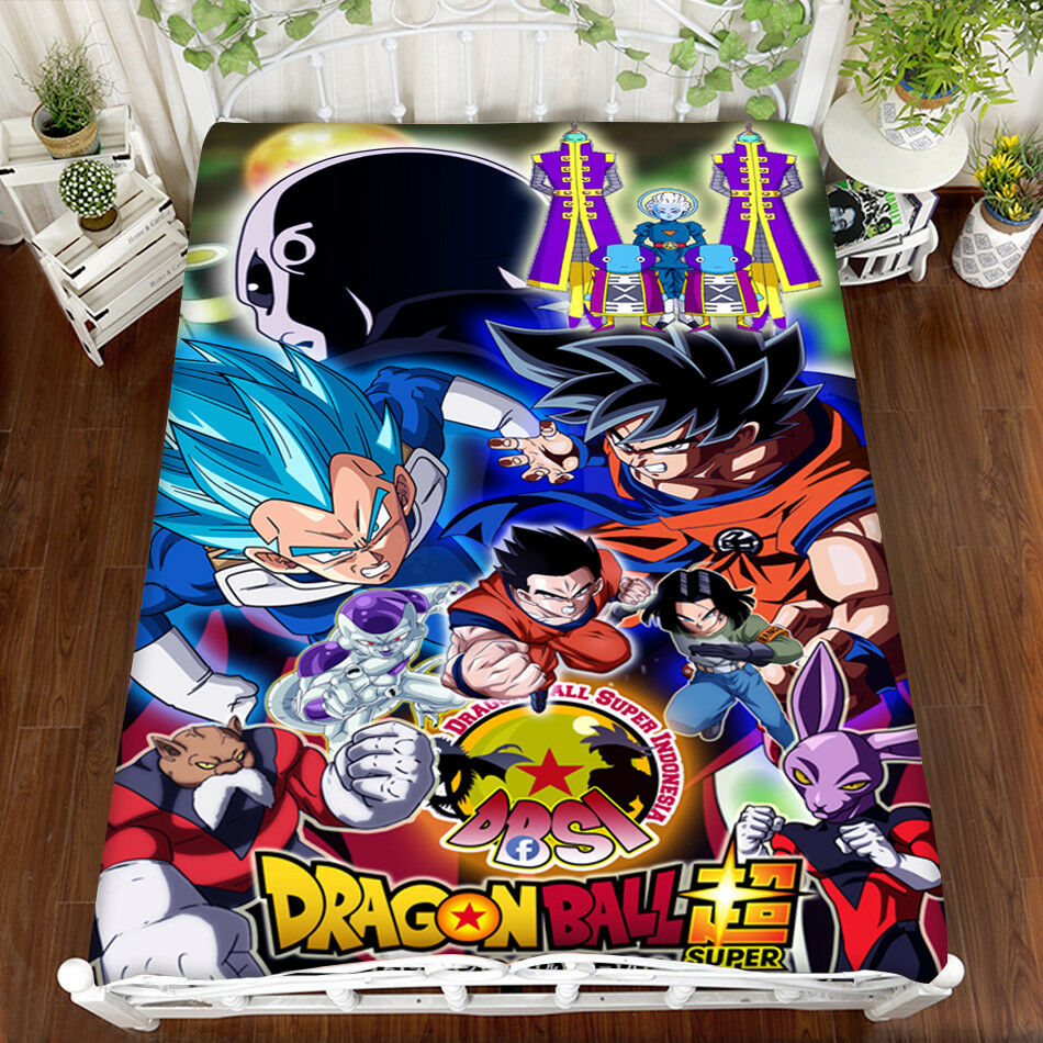 Japan Anime Dragon Ball Cute Bedsheet Micro Fiber Blanket Flannel Gift 150200cm