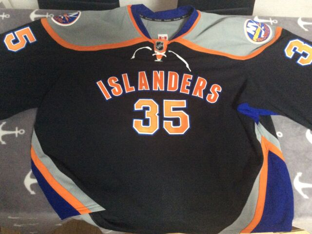 Eishockey Game Worn Trikot New York Islanders Al Montoya NHL DEL