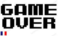 Sticker Autocollant Game Over Retrogaming Jeux Video 8bit Games Gamer Pixel
