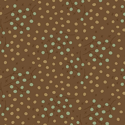 Brown Quilting Fabric 4790-396 Henry Glass Celebrating Christmas Per 1//4 ...