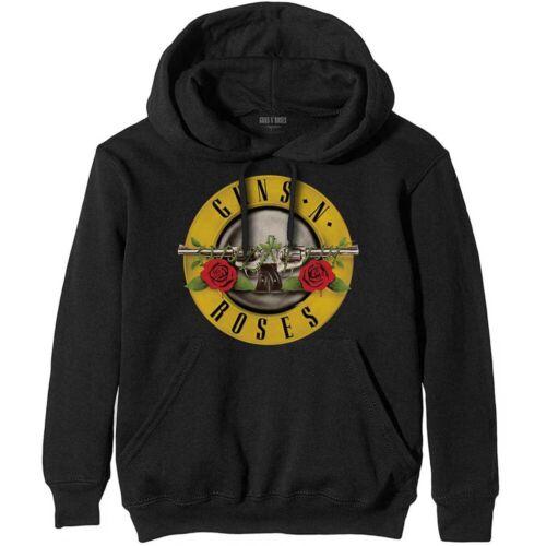 N Felpa unisex classico Logo 'Roses Guns cappuccio con IqgPrI