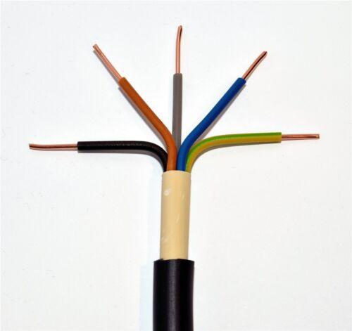 und Außenverlegung Erdkabel NYY-J 5x4 mm² schwarz Ring 25m 5x4qmm für Innen