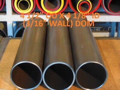 "E0454  DOM ROUND STEEL TUBE  4.500 OD  X  3.875 ID .312 WALL 18/""  LONG"