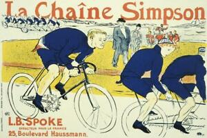La-Chaine-Simpson-Vintage-French-Art-Print-Mural-inch-Poster-36x54-inch