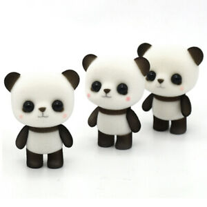 5pcs Flocking Doll Toys Mini Animals Decoration Toys For Girls Exquisite Gift S*
