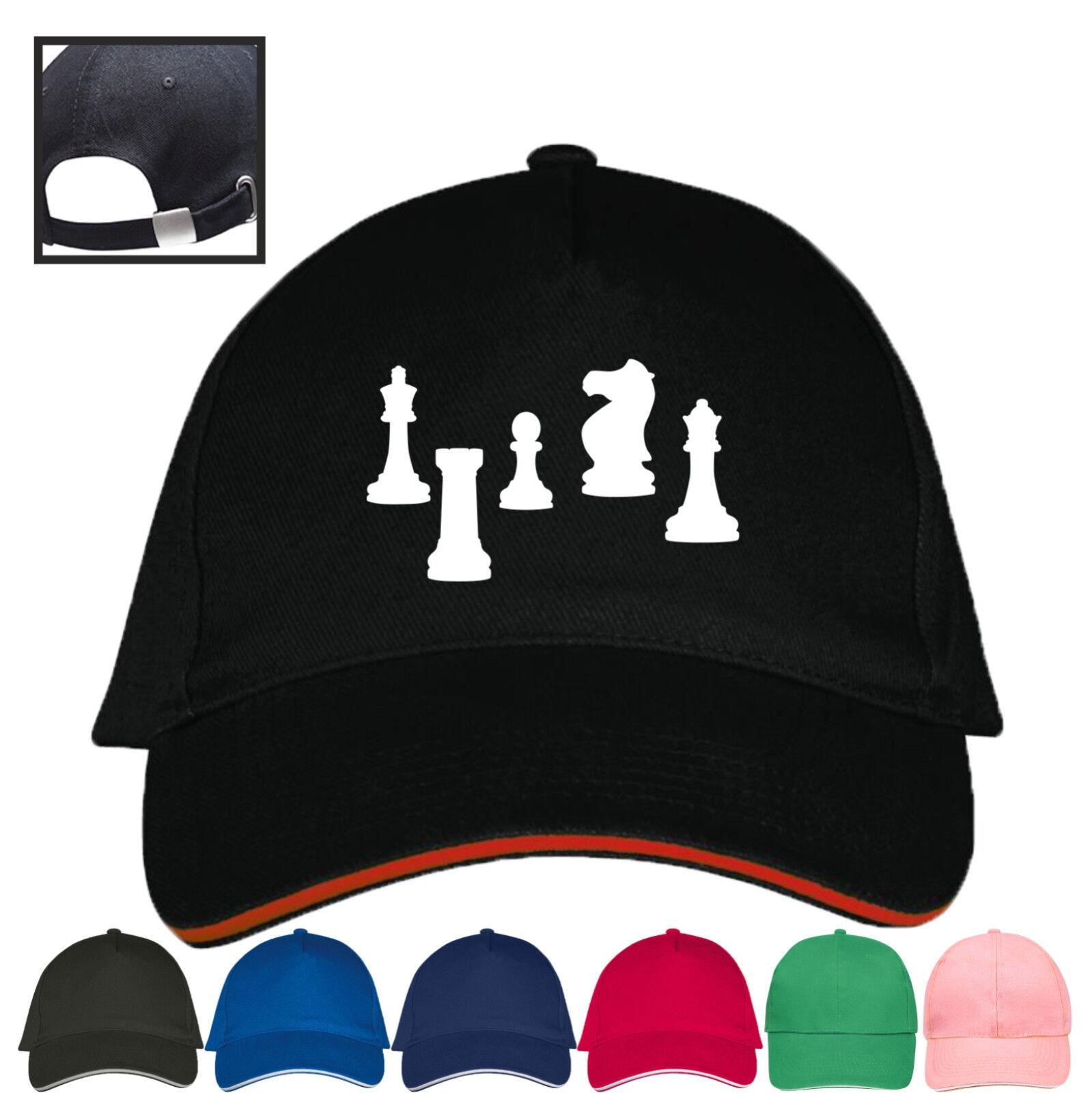 Cap Schach Schachspiel Schachspieler Schachfigur Bauer Pferd Basecap Mütze NEU