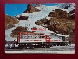 POSTCARD-CANADA-ALBERTA-SNOWMOBILES-COLUMBIA-ICEFIELD