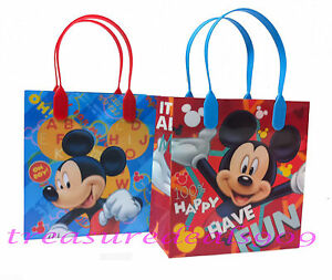 Image Is Loading 18 PC DISNEY MICKEY MOUSE GOODIE GIFT BAGS