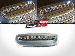 Chrome-Front-Hood-Scoop-Vent-Cover-Overlay-for-2001-2006-Mini-Cooper-S-R52-R53