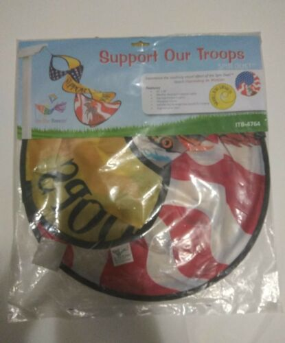 In the Breeze Support Our Troops Spin Duet Wind Spinner