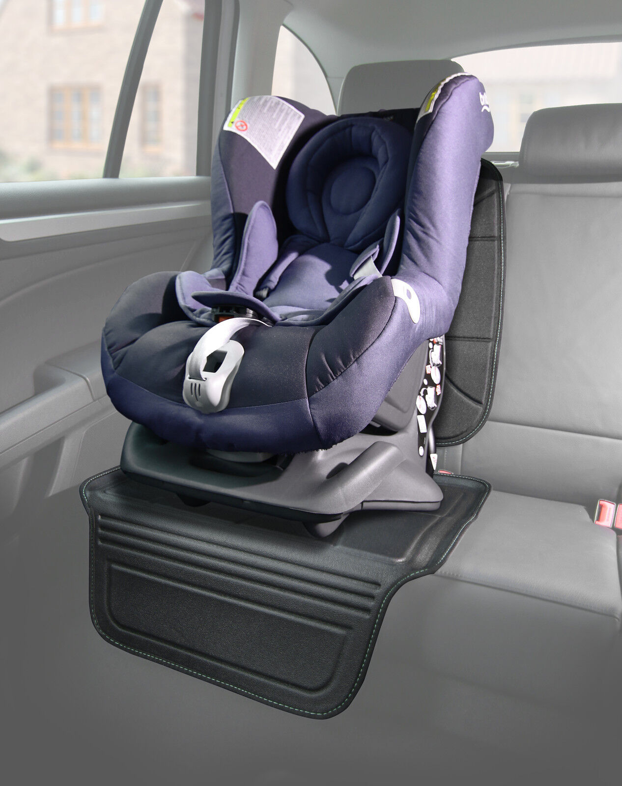 Venture Two Stage 2 Piece Car Seat Saver Protector Black