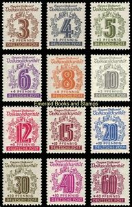 EBS-Germany-1946-Soviet-Zone-West-Saxony-Volkssolidaritat-set-138-149-MNH
