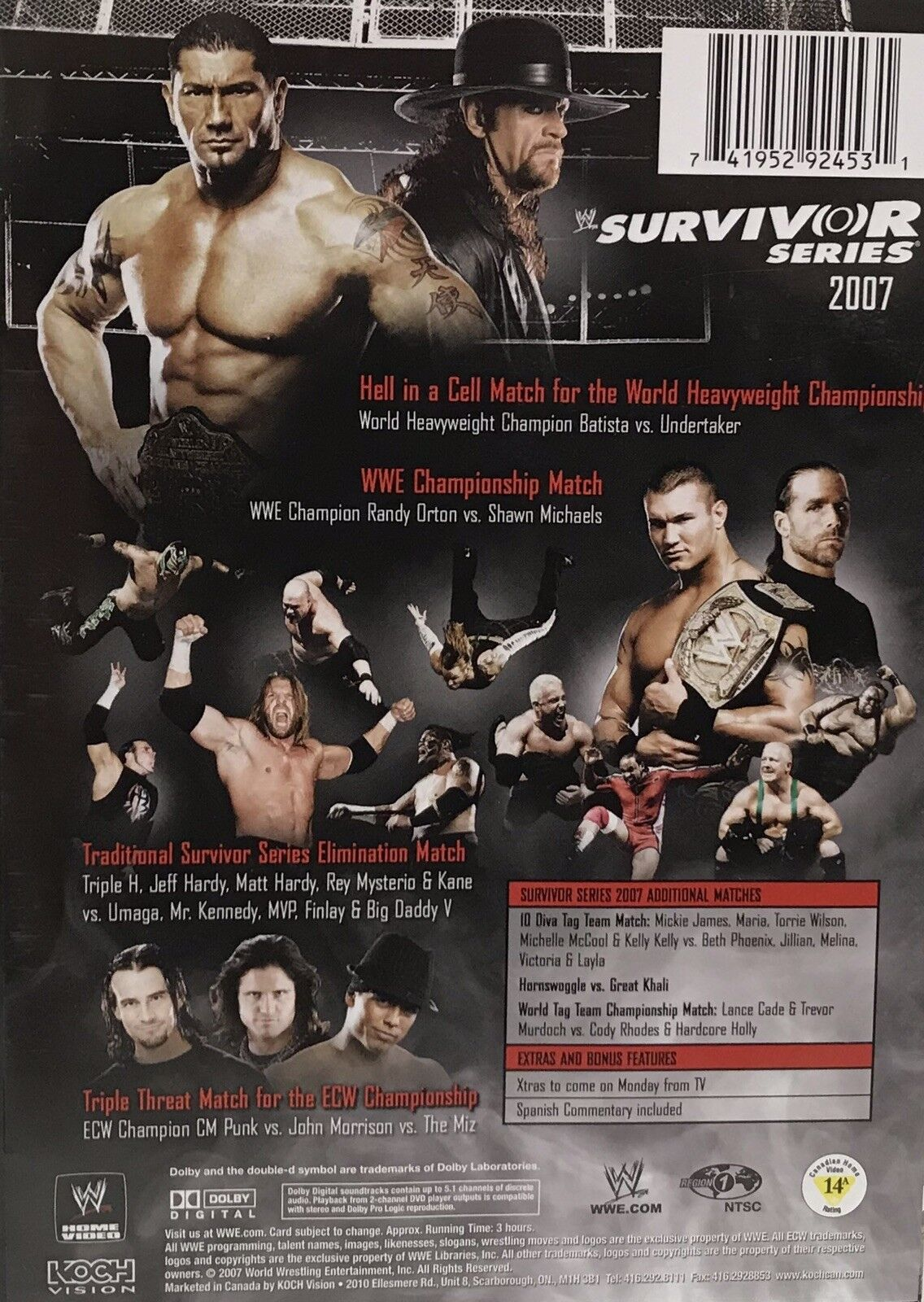 WWE 2007 Survivor Series World Wrestling Entertainment DVD