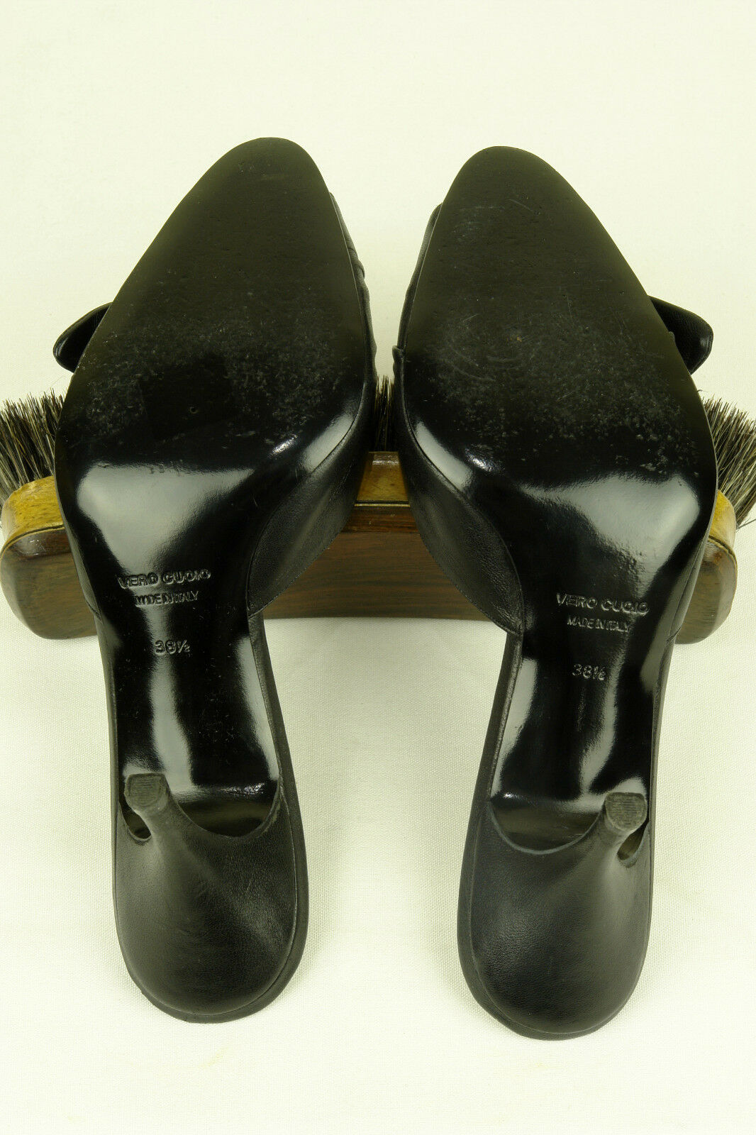 BETTYE MULLER   ITALY     SUBLIME MULE IN schwarz NAPA sz 38.5   SUPERB 1f2f45